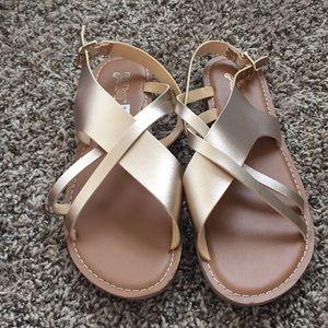 Gold sandals!